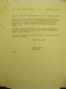 Flushing Historical Society Letter (Part 2)