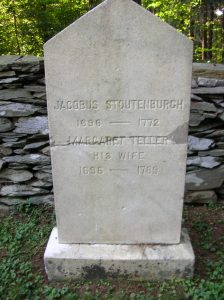 Gravestone: Jacobus Stoutenburgh (1696-1772) and Margaret Teller, his wife (1696-1789)