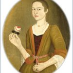 Young Lady With A Rose (Painting attributed to Peter Van Der Lyn)